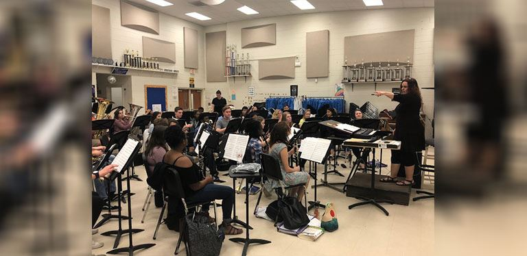 Hanahan High School band practice